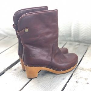 Ugg Boots Gently Used Wooden Heel Size 8